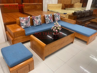 Bàn ghế gỗ phòng khách 6